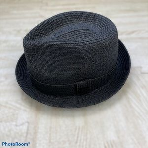 Bailey Of Hollywood Black Straw Fedora Hat Cap
